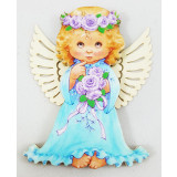 Magnet wooden Angel