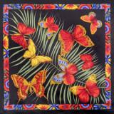Pavlovo Posad Shawl Pavlovo Posad silk atlas, 89 x 89 1137-18 Fiji