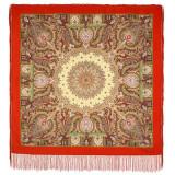 Pavlovo Posad Shawl Pavlovoposadsky with silk fringe 110 x 110...