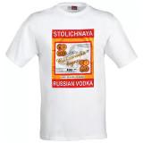 T-shirt L Stolichnaya vodka, white, L