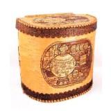 birch bark products bread high with a hinged lid, Samovar, 23 x 30...