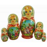Nesting doll 5 pcs. Turnip, Afanasiev Victor