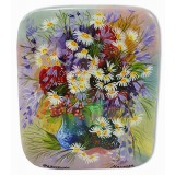 Lacquer Box Fedoskino A bouquet of flowers, Daisies.