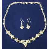 Enamel headsets Biryusinka, necklace and earrings