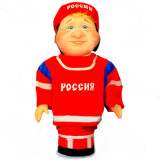 Doll handmade bar hockey player from the Russian team
