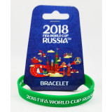 The world Cup 2018 bracelet green, rubber