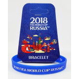 The world Cup 2018 bracelet blue, rubber