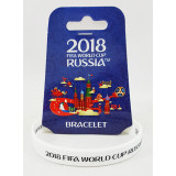The world Cup 2018 bracelet white, rubber
