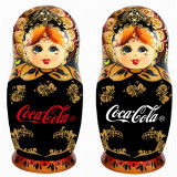 Nesting doll by customer specification 20 cm case with Coca-Cola logo