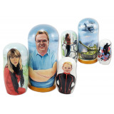 Nesting doll by customer specification portrait 3 seats with...