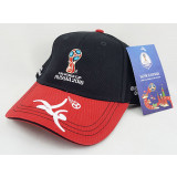 The world Cup 2018 baseball cap with symbols of the 2018 world Cup,...