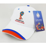 The world Cup 2018 baseball cap with symbols of the 2018 world Cup