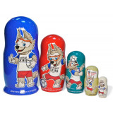 The world Cup 2018 Nesting Doll Zabivaka, 5 pcs., 2018 world Cup,...