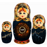 Nesting doll by customer specification 3 places of 20 cm, with...