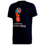 The world Cup 2018 2018 world Cup t-Shirt with symbols, black, L