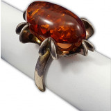 Amber ring Red Purple