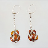 Amber earrings Chestnut