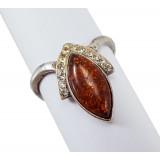 Amber ring Kokoshnik