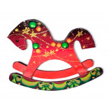 New Year and Christmas Horse, wooden toy