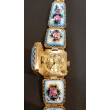 Watches Chaika, women's, enamel with lid