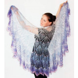 Pavlovo Posad Shawl The Orenburg Shawl Drape, violet-white