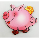 Magnet wooden piggy Bank, symbol of 2019!