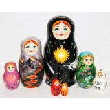 """Nesting doll by customer specification wooden case for candy, """"Karate"""""""