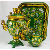 Samovar electric, Lily of the valley, Acorn shape, 3 liters
