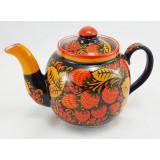 Khokhloma gift Teapot ceramic