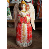 New Year and Christmas carved wooden toy Angel