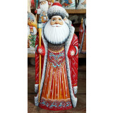 New Year and Christmas carved wooden toy Santa Claus big 29