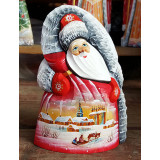 New Year and Christmas carved wooden toy Santa Claus, Winter 17