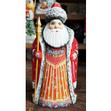 New Year and Christmas carved wooden toy Santa Claus, 22