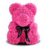 Gift for Valentine's Day 3D bear of roses pink