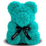 Gift for Valentine's Day 3D bear of roses blue