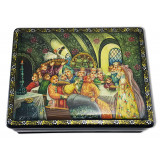 Lacquer Box Palekh Boyar wedding
