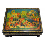 Lacquer Box Palekh The Golden Cockerel, 35x20x10
