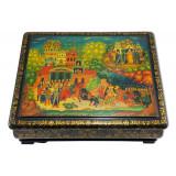 Lacquer Box Palekh The Golden Cockerel, 35x20x10