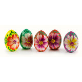 Easter egg wooden flowers of the Maidan, in assortment, 7 cm.