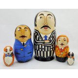 Nesting doll by customer specification 5 pcs, with customer's logo