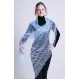 Pavlovo Posad Shawl Downy shawl handmade shawl dark blue 150 h 100