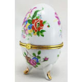 Easter egg porcelain Flowers on white background