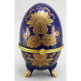 Easter egg porcelain porcelain Box egg, Three leaves of the flowers...