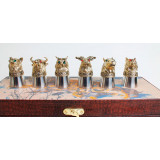 "Business souvenir Piles of shifters ""Animals"", stainless steel"