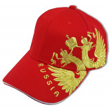 Headdress Baseball cap Coat of arms of Russia embroidery, red