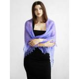Pavlovo Posad Shawl Downy shawl handmade cobweb downy lilac, 120 x 120