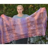 Pavlovo Posad Shawl Downy shawl handmade shawl pink 150 h 100