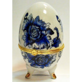 Easter egg porcelain JBE73-4 Porcelain box egg Ornament white with...