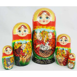 Nesting doll 5 pcs. Chicken Ryaba
