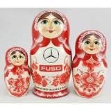 Nesting doll by customer specification 15 cm 3 pcs. with DK logo